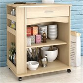 Nexera Delissio Microwave Cart in Natural Maple