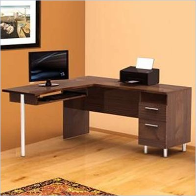 Nexera Aero Lite Reversible L Shape Workstation in Truffle