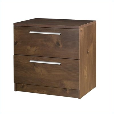 Nexera Aero Lite 2&#160;Drawer&#160;Filing&#160;Cabinet in Truffle