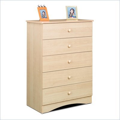 Nexera Alegria 5 Drawer Chest in Natural Maple Finish