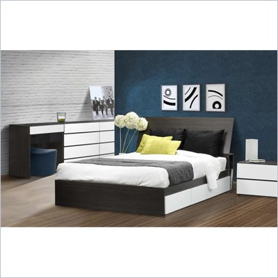 "Nexera Allure 54"" 6-Piece Bedroom Set in Ebony"