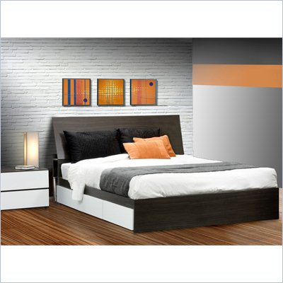 Nexera Allure 60&quot; 4-Piece Bedroom Set in Ebony