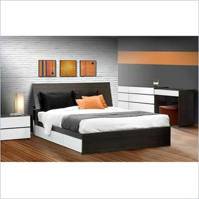 Nexera Allure 60&quot; 6-Piece Bedroom Set in Ebony