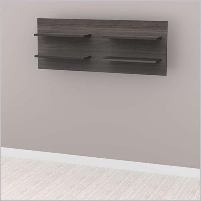Nexera Allure Decorative Wall Panel in White Lacquer &amp; Ebony