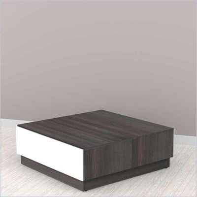 Nexera Allure Coffee Table in White Lacquer & Ebony