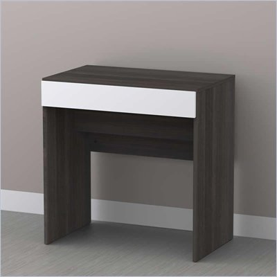 Nexera Allure Vanity in White Lacquer &amp; Ebony