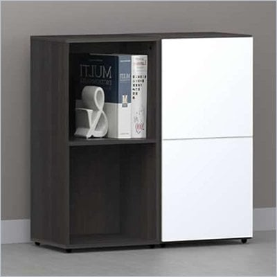 Nexera Allure 2-Piece Storage Module in Ebony and White
