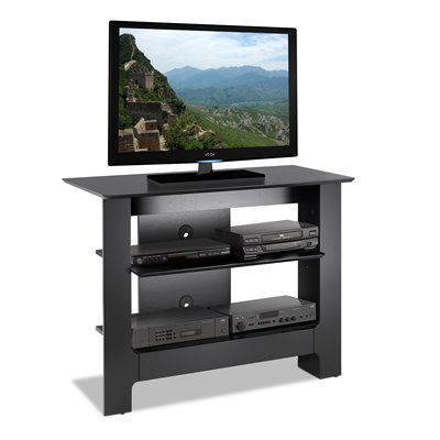 Nexera Pinnacle 40&quot; Black Plasma/LCD TV Stand