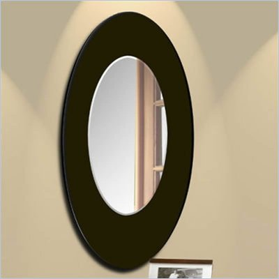 Nexera Boomerang Fine Textured Lacquer Mirror in Wenge Finish