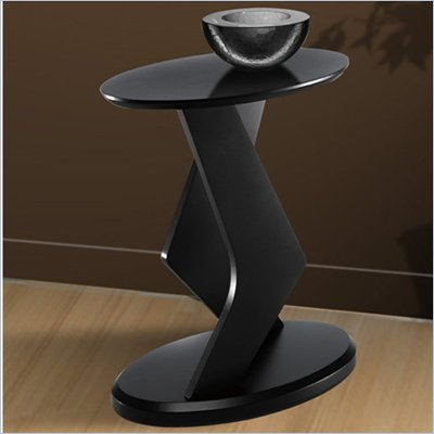 Nexera Boomerang Fine Textured Lacquer 18&quot; Podium Accent Table in Wenge Finish