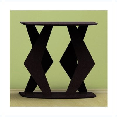 Nexera Boomerang Fine Textured Lacquer Console Table in Wenge Finish