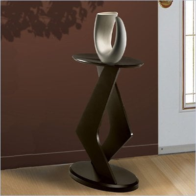 Nexera Boomerang Fine Textured Lacquer 24&quot; Podium Accent Table in Wenge Finish