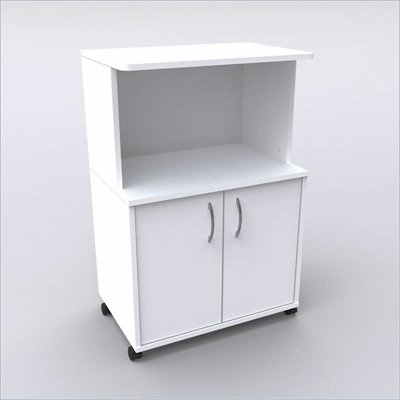 Nexera Delissio Microwave Cart in White