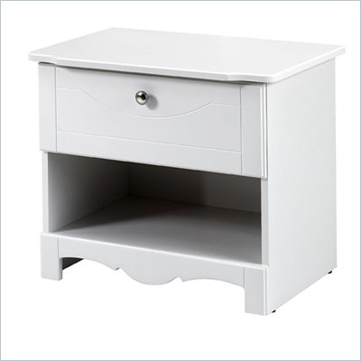 Nexera Dixie Wood Nightstand in White