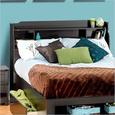 Nexera Dixon Full Bookcase Headboard in Espresso