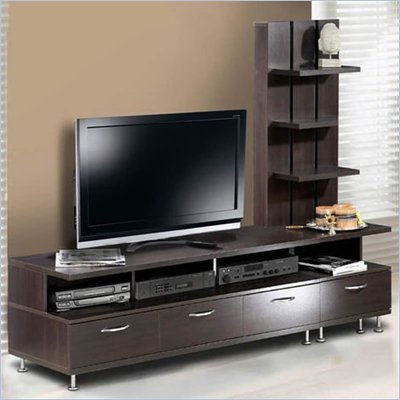 Nexera Eclipse 2 Piece Entertainment Center in Espresso