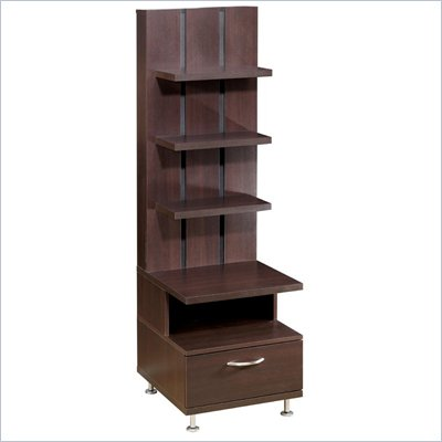 Nexera Eclipse Storage Tower in Rich Dark Espresso