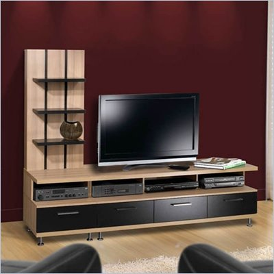 Nexera Eclipse 2 Piece Entertainment Center in Biscotti