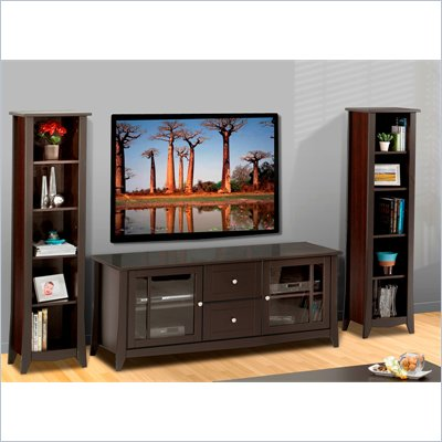 "Nexera Elegance 3-Piece 49"" Entertainment Package in Espresso"
