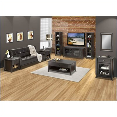 Nexera Elegance 7-Piece 49&quot; Entertainment Set in Espresso