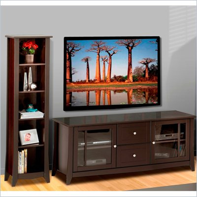Nexera Elegance 2-Piece 58&quot; Entertainment Package in Espresso