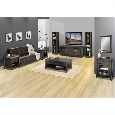 Nexera Elegance 7-Piece 58&quot; Entertainment Set in Espresso