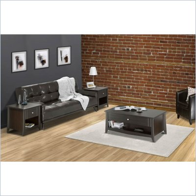 Nexera Elegance 3-Piece Living Room Table Set in Espresso