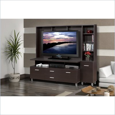 "Nexera Element 56"" TV Stand with Audio Tower in Espresso"