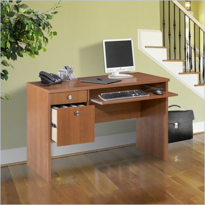 "Nexera Essentials 48"" Wood Computer Desk in Cappuccino"