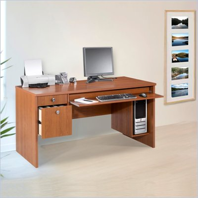 Nexera Essentials 60&quot; Wood Computer Desk in Cappuccino