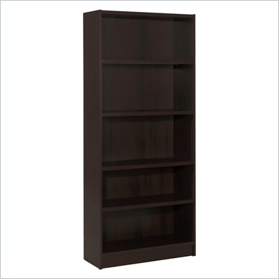 Nexera Essentials 72&quot; 5-Shelf Bookcase in Espresso