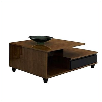 Nexera Harmony Free Form Wood Top Coffee Table in Cherry laminate Finish