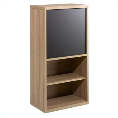 Nexera Infini-T 38&quot; 1 Door Bookcase in Biscotti and Espresso
