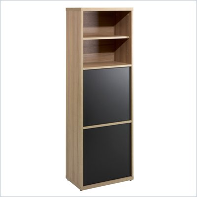 Nexera Infini-T 56&quot; 2 Door Bookcase in Biscotti and Espresso