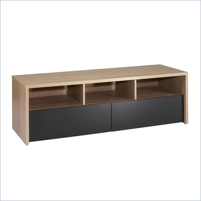 "Nexera Infini-T 2 Drawer 60"" TV Stand in Biscotti and Espresso"