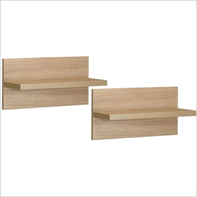 Nexera Infini-T Wall Shelves in Biscotti (Set of 2)