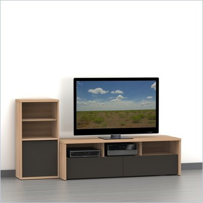 Nexera Infini-T 2-Piece Entertainment Set in Biscotti and Espresso