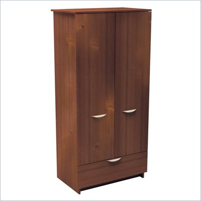 Nexera Nocce Wardrobe Armoire in Truffle Finish