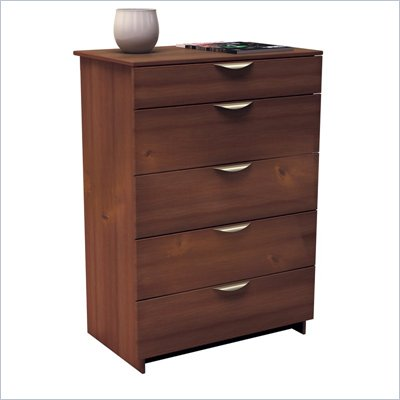 Nexera Nocce 5 Drawer Chest in Truffle Finish