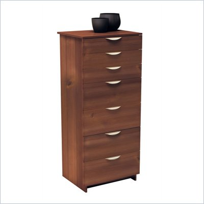 Nexera Nocce 7 Drawer Lingerie Chest in Truffle Finish
