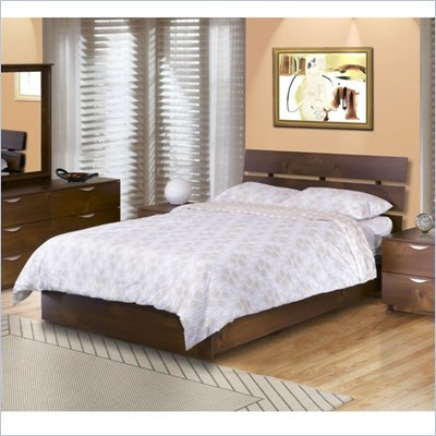 Nexera Nocce Modern Platform Bed in Truffle Finish