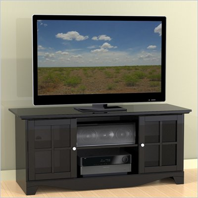 "Nexera Pinnacle 56"" TV Stand in Black"