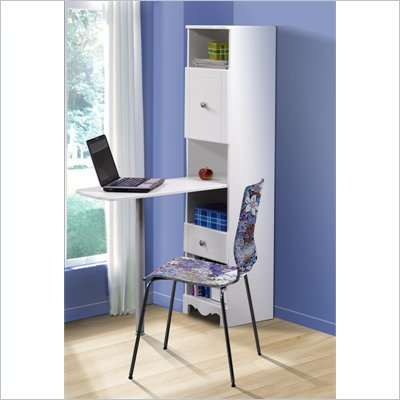 Nexera Pixel Bookcase Desk in White
