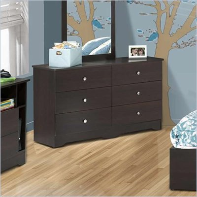 Nexera Pocono 6 Drawer Double Dresser in Espresso