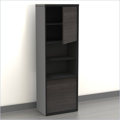 Nexera Sereni-T 54&quot; 2 Door Bookcase in Black and Ebony