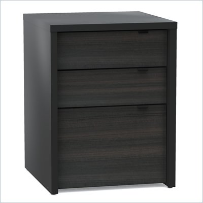 Nexera Sereni-T 3 Drawer Filing Cabinet in Black and Ebony