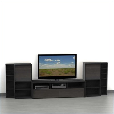 Nexera Sereni-T 5-Piece Entertainment Center in Ebony