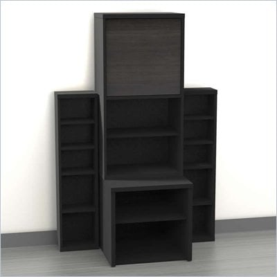 Nexera Sereni-T 4-Piece Modular Storage Set in Ebony