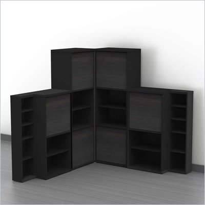 Nexera Sereni-T 6-Piece Modular Storage Set in Ebony