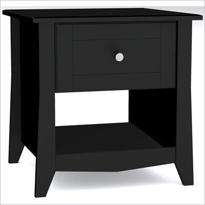 Nexera Tuxedo End Table in Black